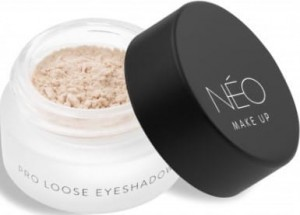 NEO MAKE UP CIENIE SYPKIE MATOWE PRO LOOSE EYESHADOW 01 MATTE NUDE