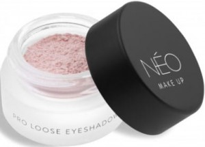 NEO MAKE UP CIENIE SYPKIE MATOWE PRO LOOSE EYESHADOW 02 MATTE LIGHT ROSE