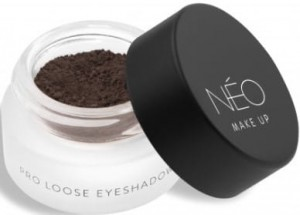 NEO MAKE UP CIENIE SYPKIE MATOWE PRO LOOSE EYESHADOW 04 MATTE COFFEE