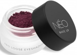 NEO MAKE UP CIENIE SYPKIE MATOWE PRO LOOSE EYESHADOW 05 MATTE AUBERGINE