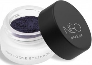NEO MAKE UP CIENIE SYPKIE MATOWE PRO LOOSE EYESHADOW 06 MATTE NAVY BLUE