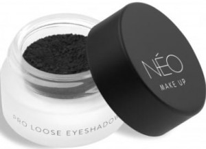 NEO MAKE UP CIENIE SYPKIE MATOWE PRO LOOSE EYESHADOW 07 MATTE DEEP BLACK