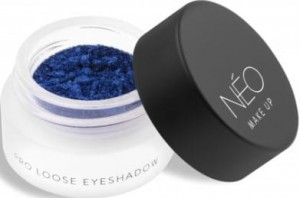 NEO MAKE UP CIENIE SYPKIE PERŁOWE PRO LOOSE EYESHADOW 12 METALLIC LAZUR