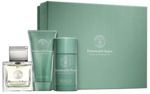 ZESTAW ERMENEGILDO ZEGNA ACQUA DI BERGAMOTTO 100ML EDT + DEZODORANT 73ML + ŻEL DO MYCIA 75ML